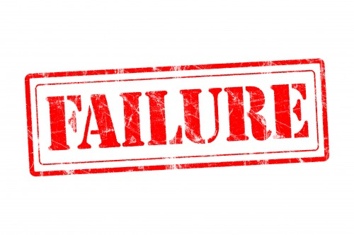 "red stamp reading ""failure"""