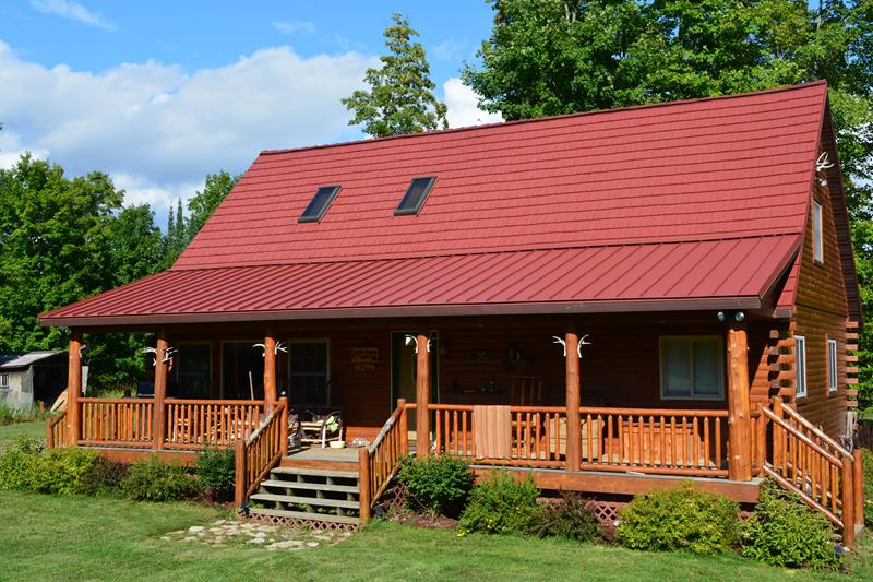 Red Residential Metal Roof