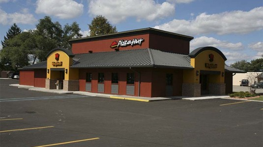 Pizza Hut with Metal Roof