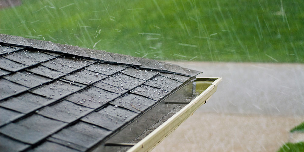 hail on metal roofing