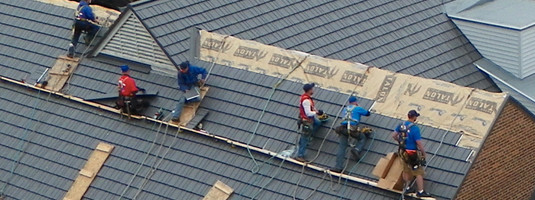 Metal Roof Installation in Process